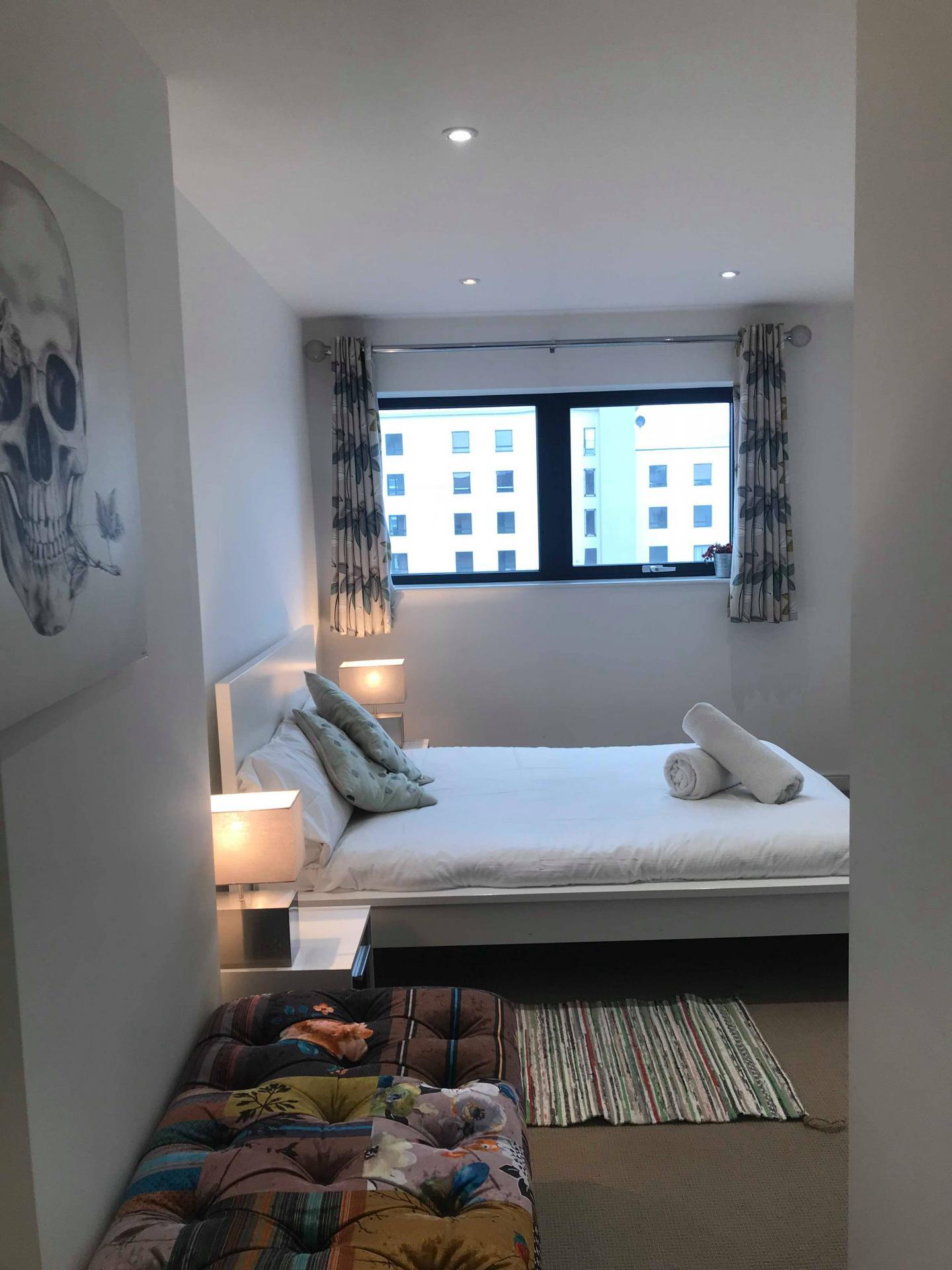 Bed at Ocean Village Serviced Apartments, Ocean Village, Southampton