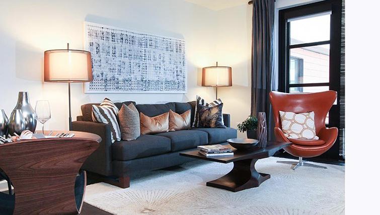 Living room at Venue Apartments