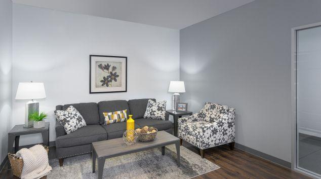 Living room at Cielo Apartments