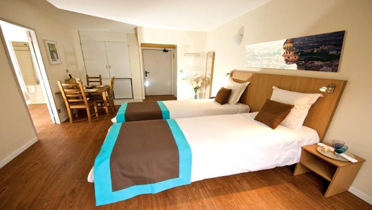 Open plan living area in Gare de L'Est Apartments