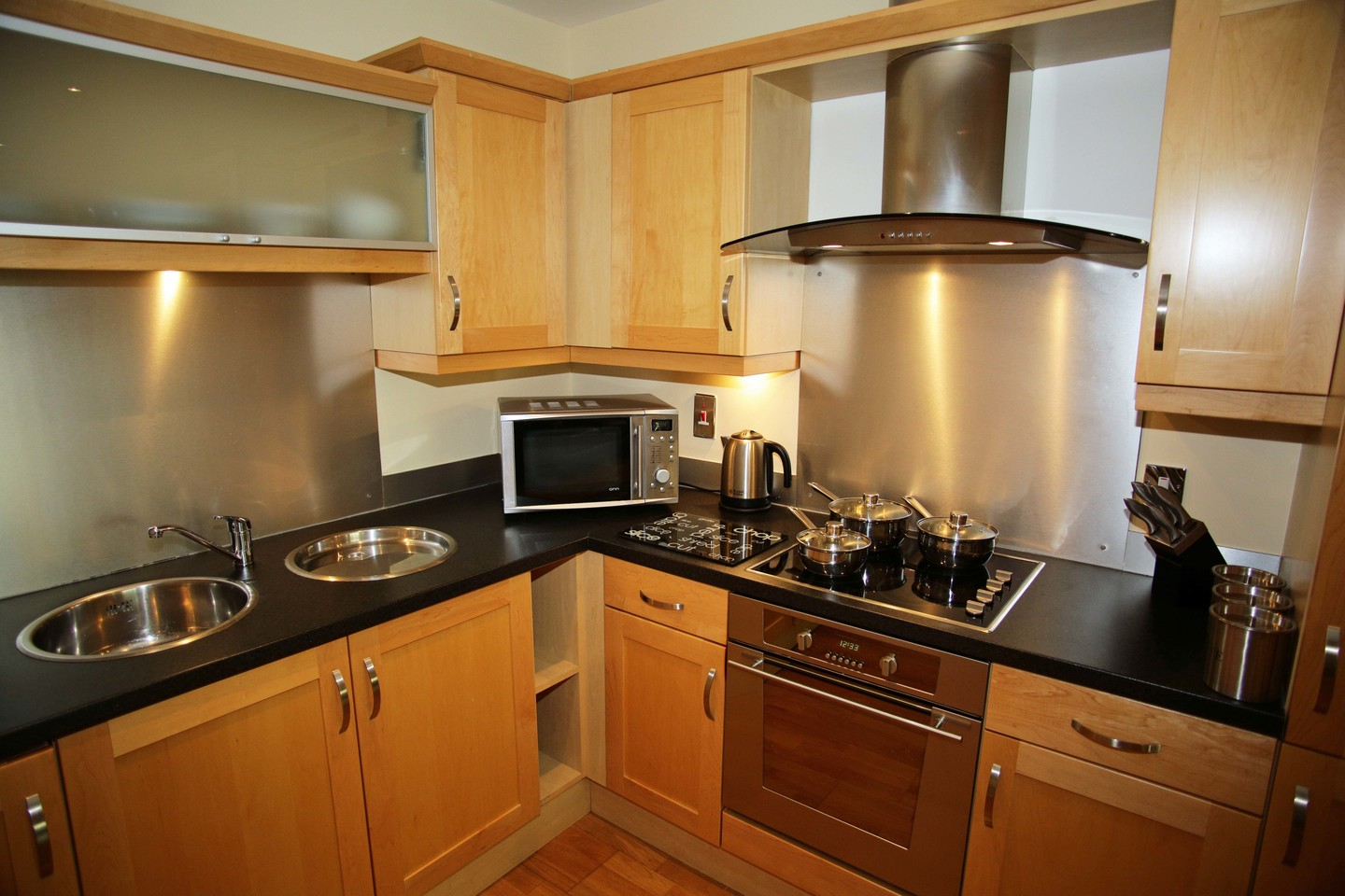 Kitchen at The Oval Apartments