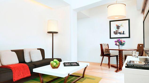 Living room at Shama Fortress Hill Apartments