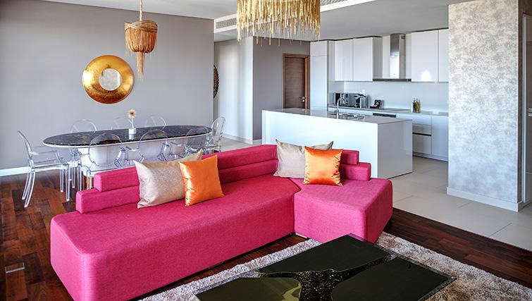 Living room at City Walk Serviced Apartments
