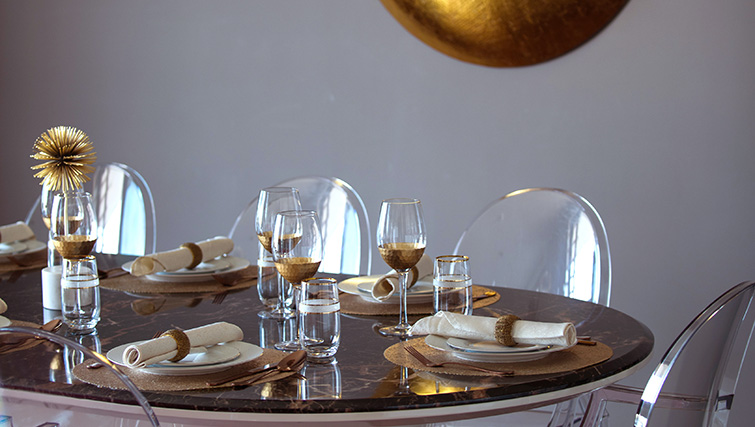 Dining table at City Walk Serviced Apartments
