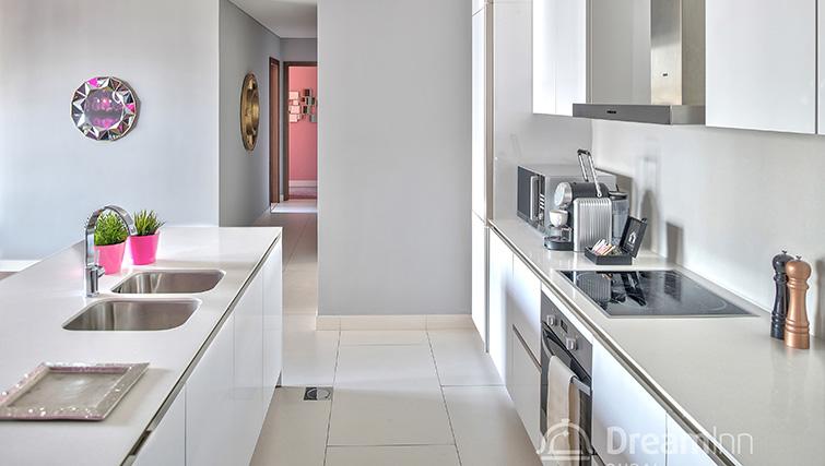 Modern kitchen at City Walk Serviced Apartments