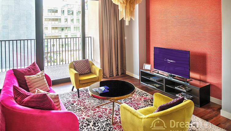 Modern lounge at City Walk Serviced Apartments