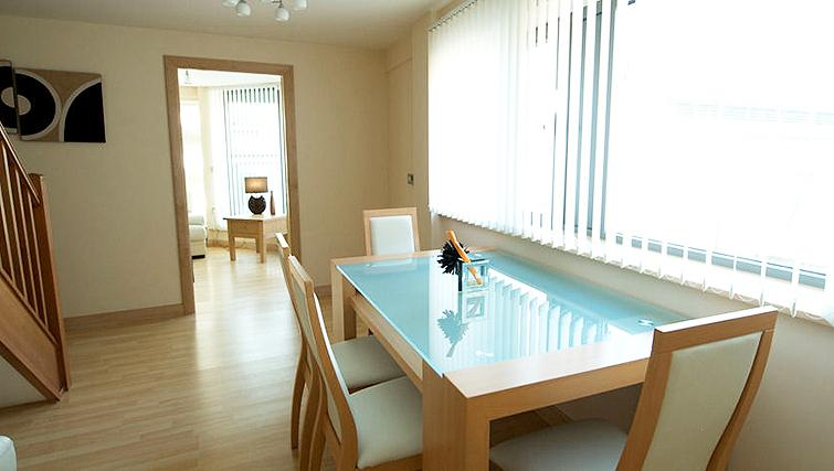 Bright dining area in Deansgate Apartments