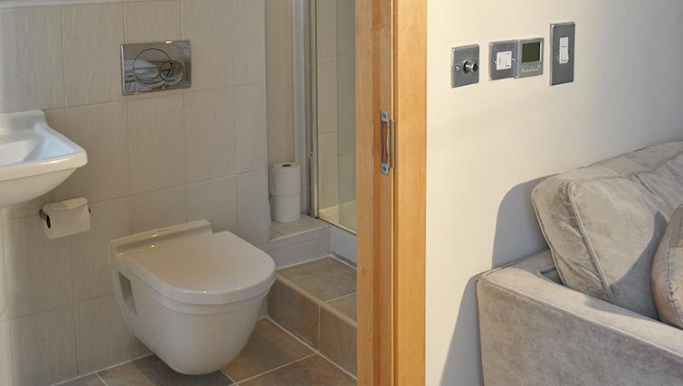 Modern bathroom at Deansgate Apartments