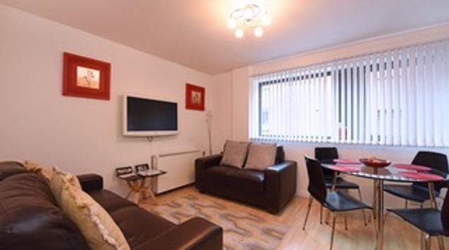 Expansive living area at Deansgate Apartments, Deansgate, Manchester