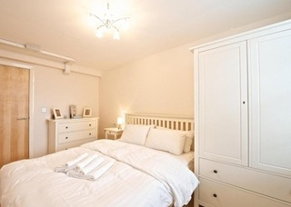 Traditional bedroom at Deansgate Apartments, Deansgate, Manchester
