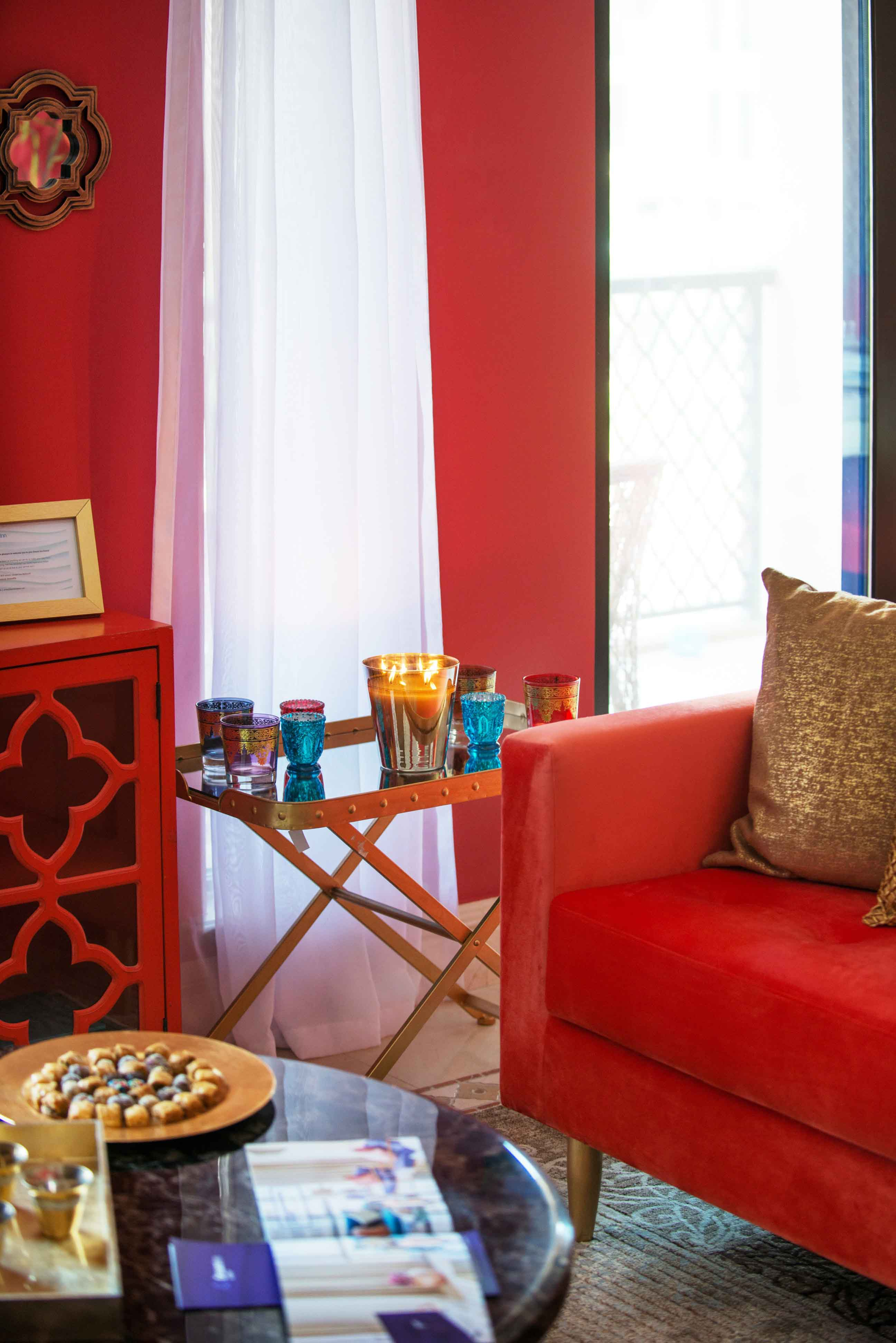 Living room at Emaar Miska Tower Apartment