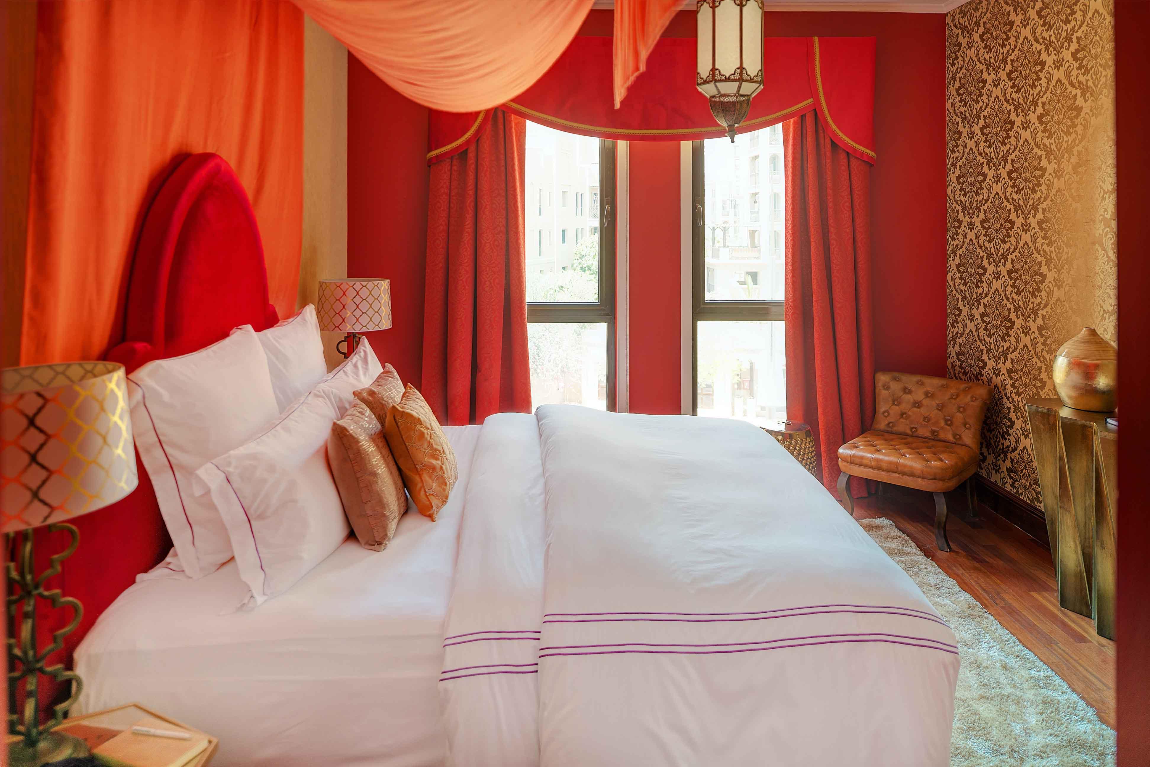 Comfortable bedroom at Emaar Miska Tower Apartment