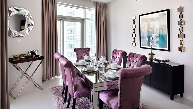 Dining area at Loft Towers Apartments