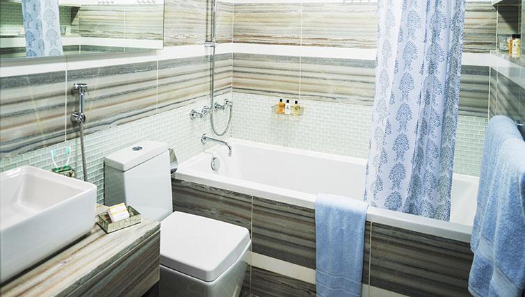 Bathroom at Loft Towers Apartments