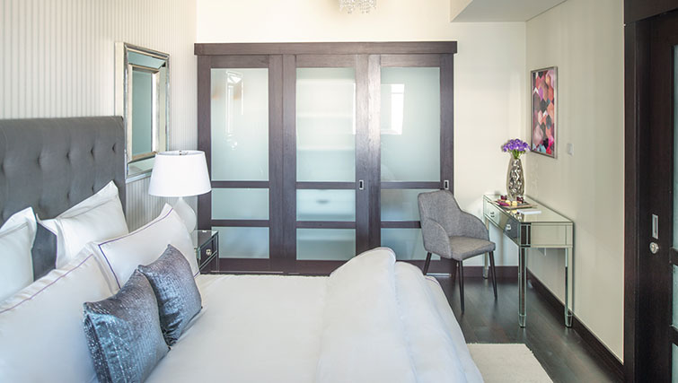 Bedroom at Loft Towers Apartments
