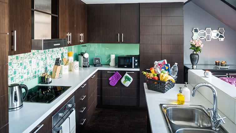 Kitchen at Loft Towers Apartments