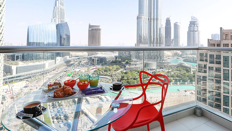 Balcony at Loft Towers Apartments