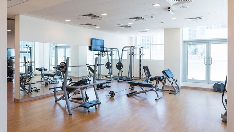 Gym at Loft Towers Apartments