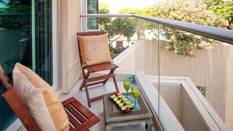 Balcony area at Loft Towers Apartments