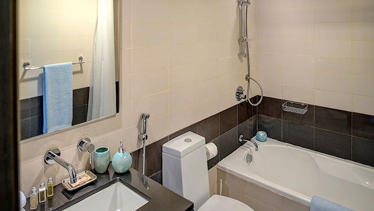 Bath at Loft Towers Apartments
