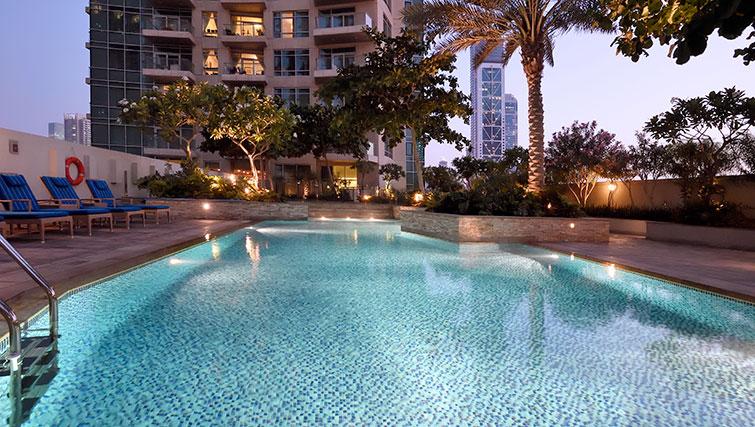Pool at Loft Towers Apartments
