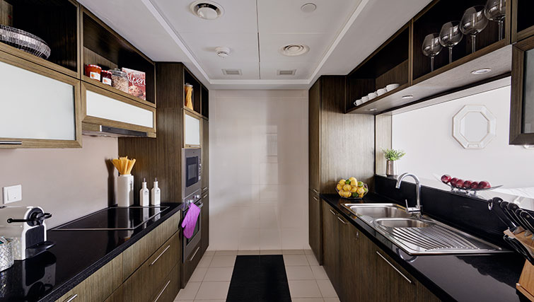 Modern kitchen at Loft Towers Apartments