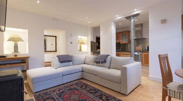 Living room at The Garden Serviced Apartment