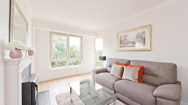 Living area at The Oaks Serviced Apartment, Ballsbridge, Dublin
