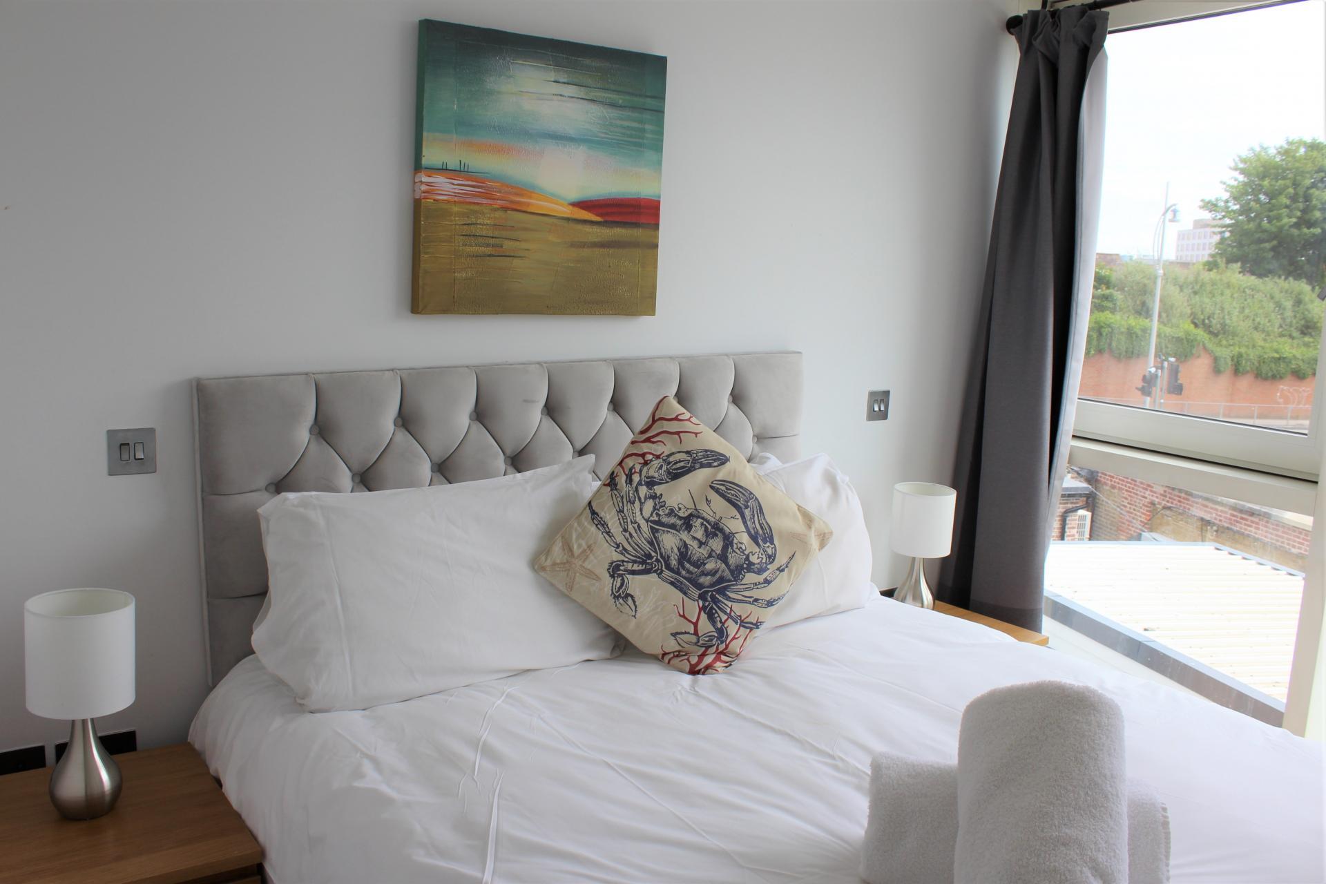 Bedroom at Gunwharf Quays Apartments, Gunwharf Quays, Portsmouth