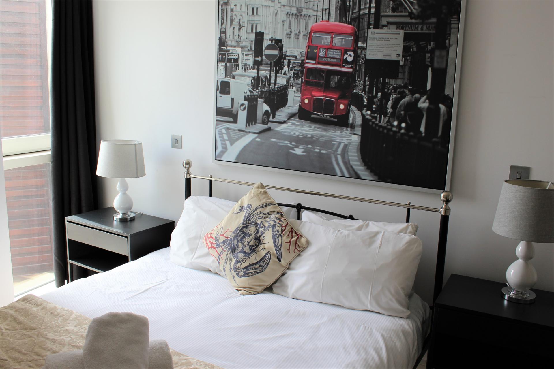 Bed at Gunwharf Quays Apartments, Gunwharf Quays, Portsmouth