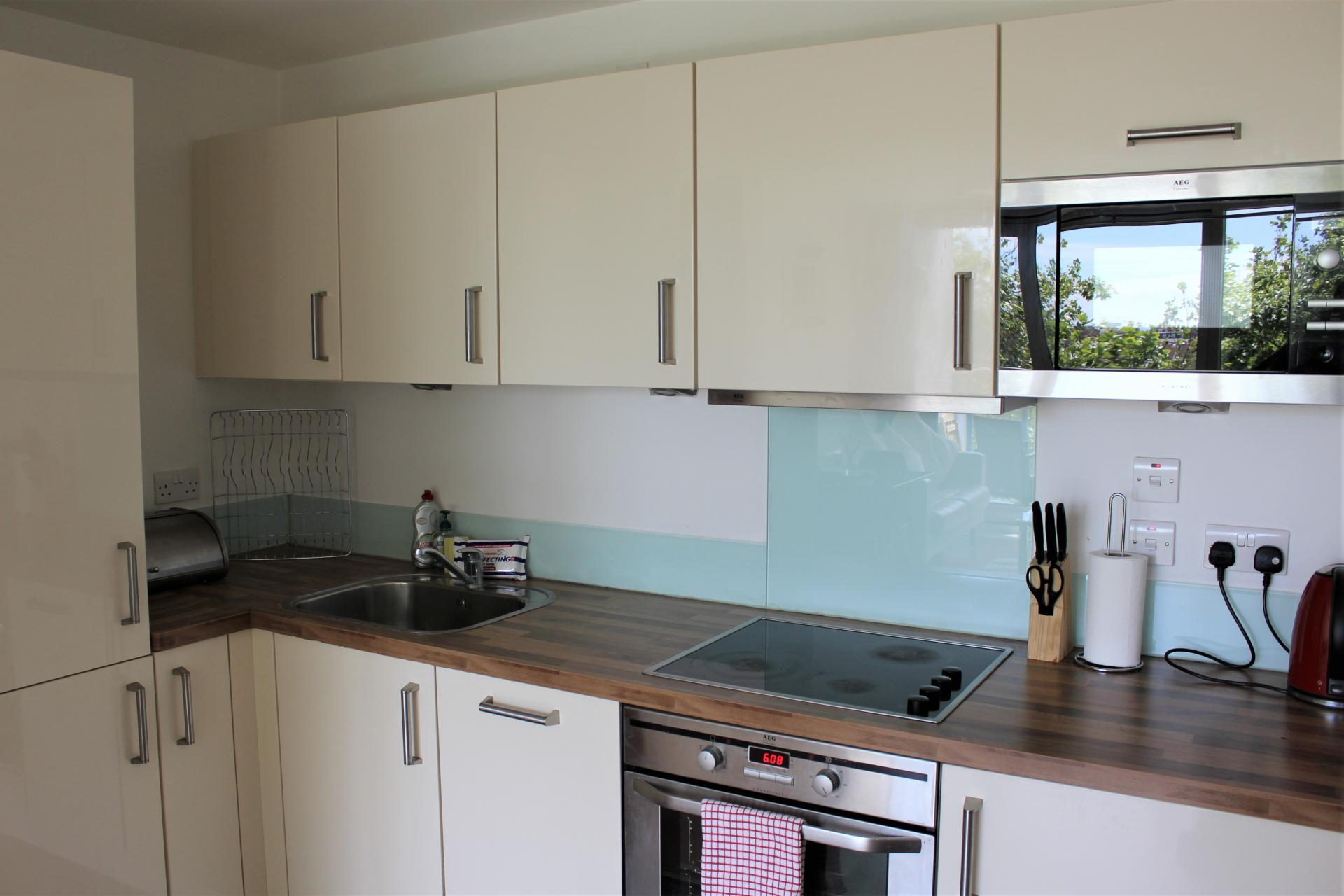 Modern kitchen at Gunwharf Quays Apartments, Gunwharf Quays, Portsmouth