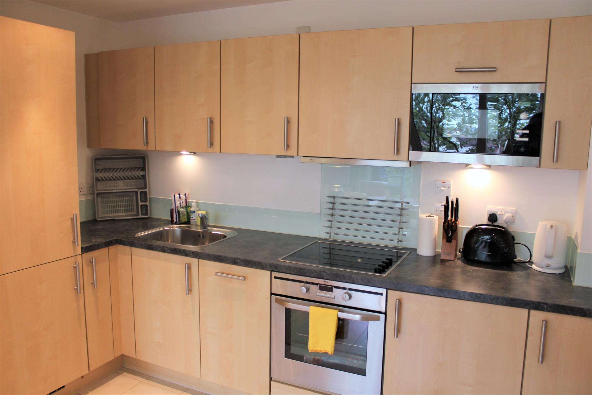 Fully equipped kitchen at Gunwharf Quays Apartments, Gunwharf Quays, Portsmouth