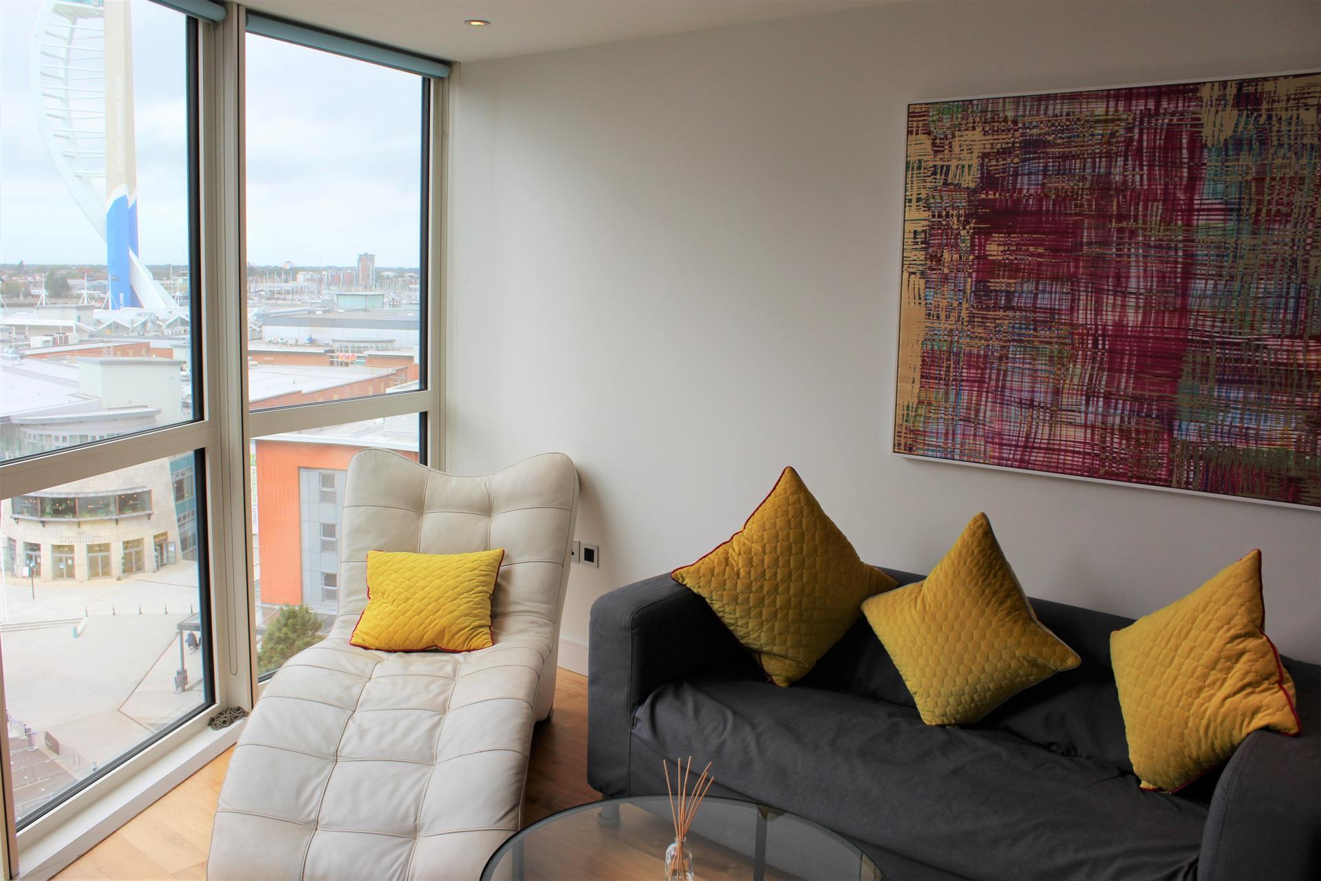 Chair at Gunwharf Quays Apartments, Gunwharf Quays, Portsmouth