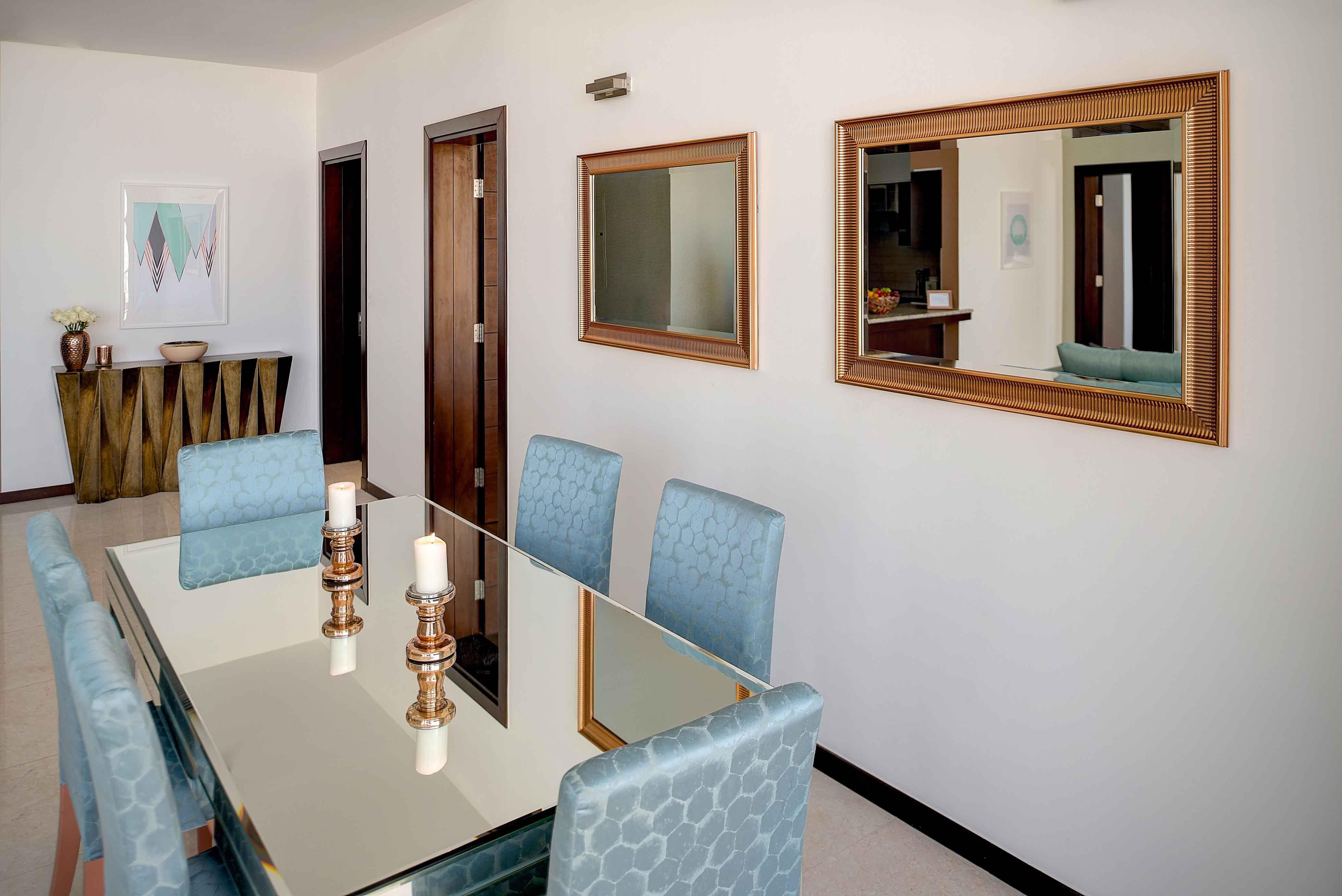 Dining area at Tiara Tower Apartments