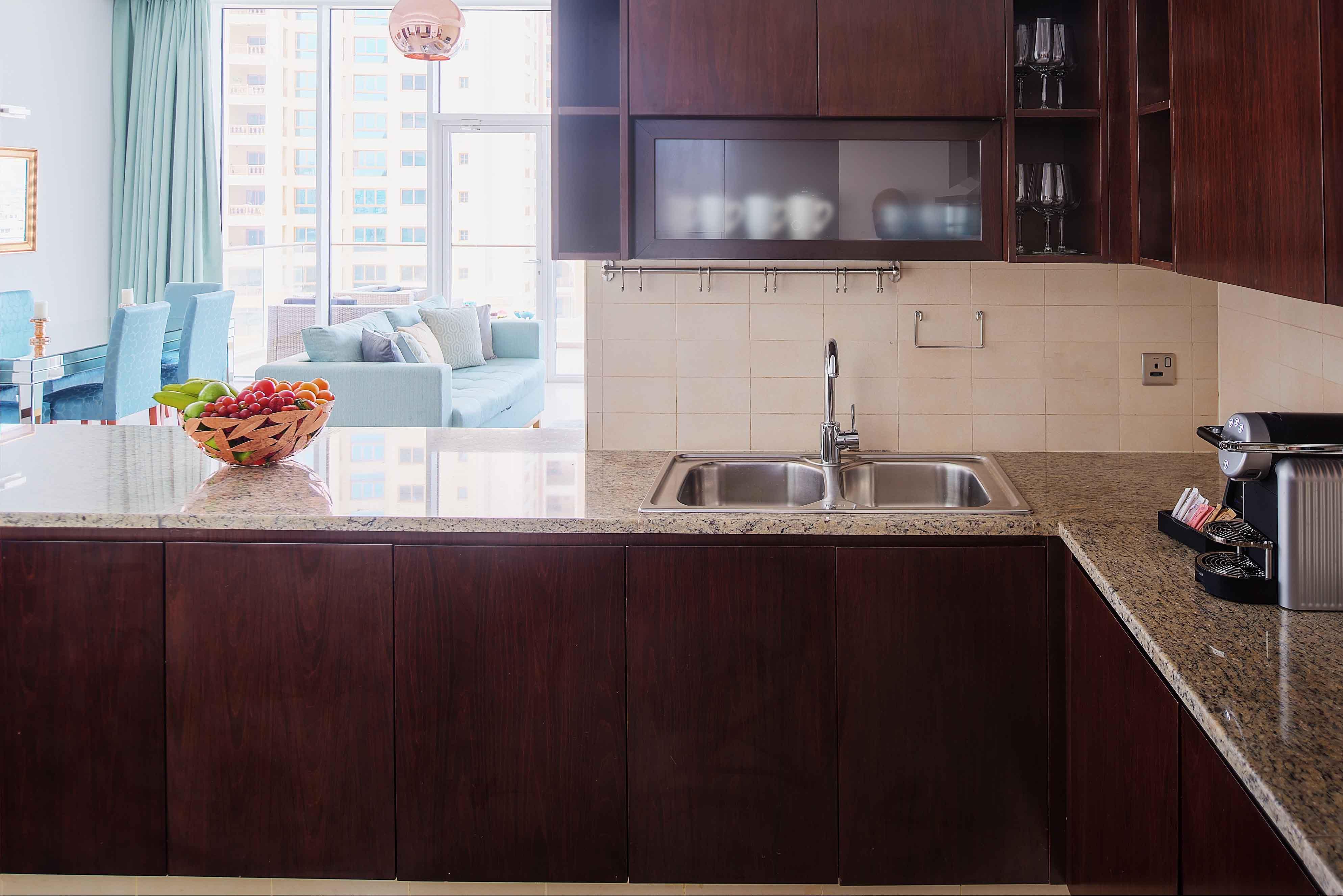 Kitchen at Tiara Tower Apartments