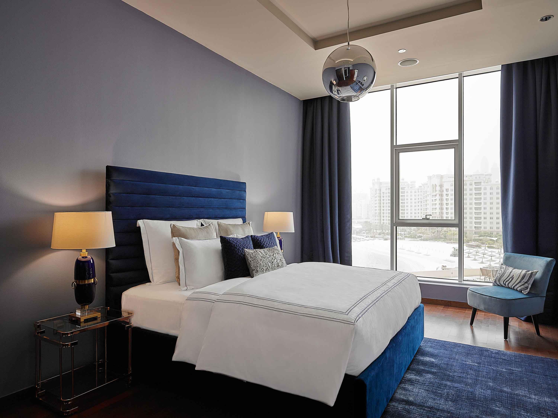 Blue bedroom at Tiara Tower Apartments