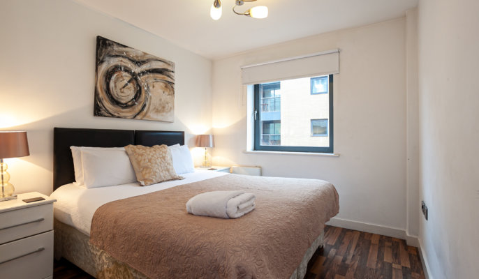 Cosy bedroom at Bloom Apartments, Centre, Manchester