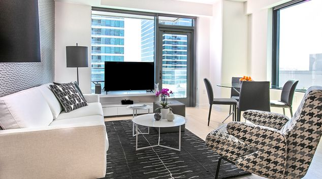 Living room at Fremont Serviced Apartments