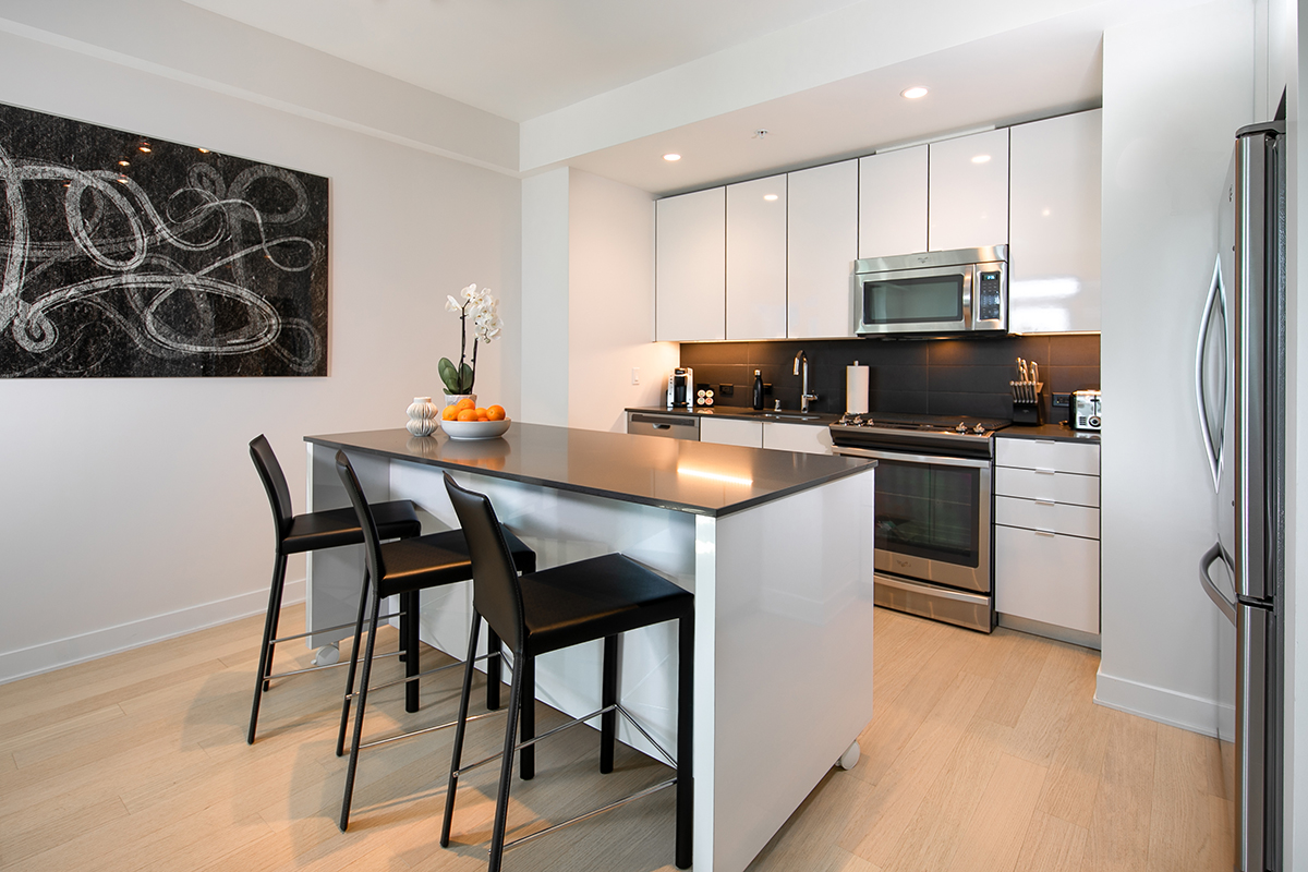 Kitchen at Fremont Serviced Apartments
