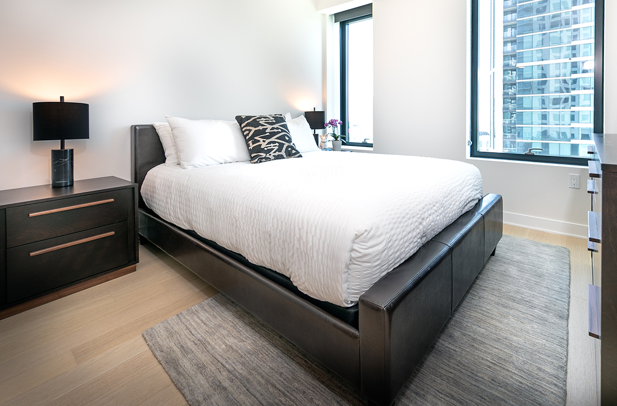 Bedroom at Fremont Serviced Apartments
