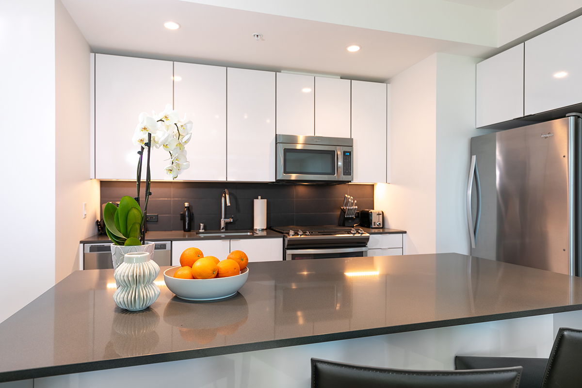 Modern kitchen at Fremont Serviced Apartments