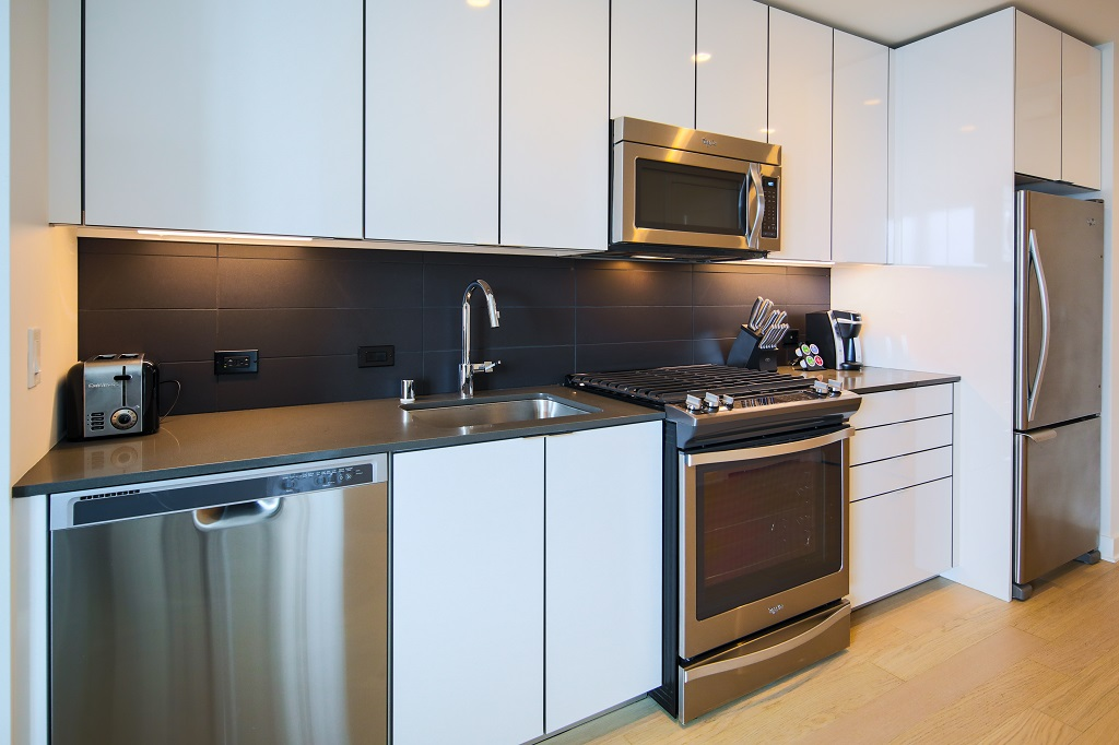 Fully equipped kitchen at Fremont Serviced Apartments