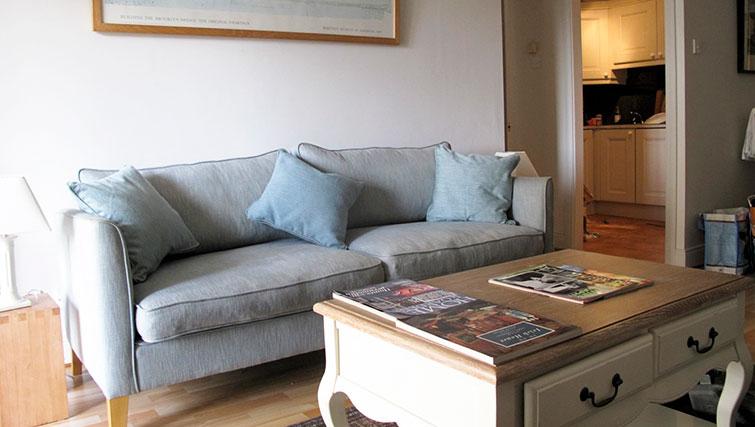 Sofa at Pembroke Square Apartment