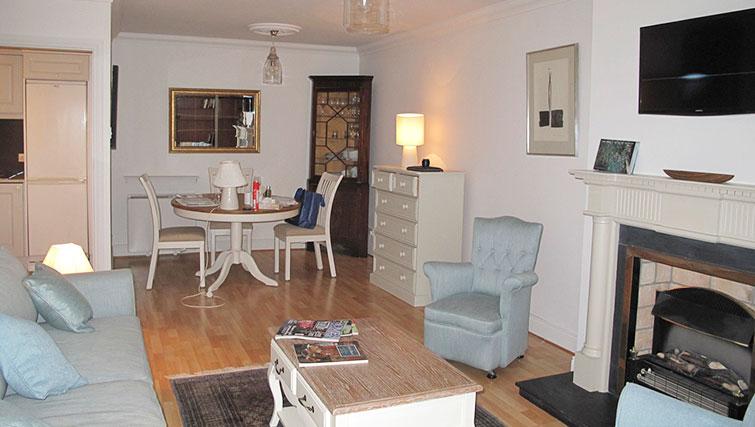Living room at Pembroke Square Apartment