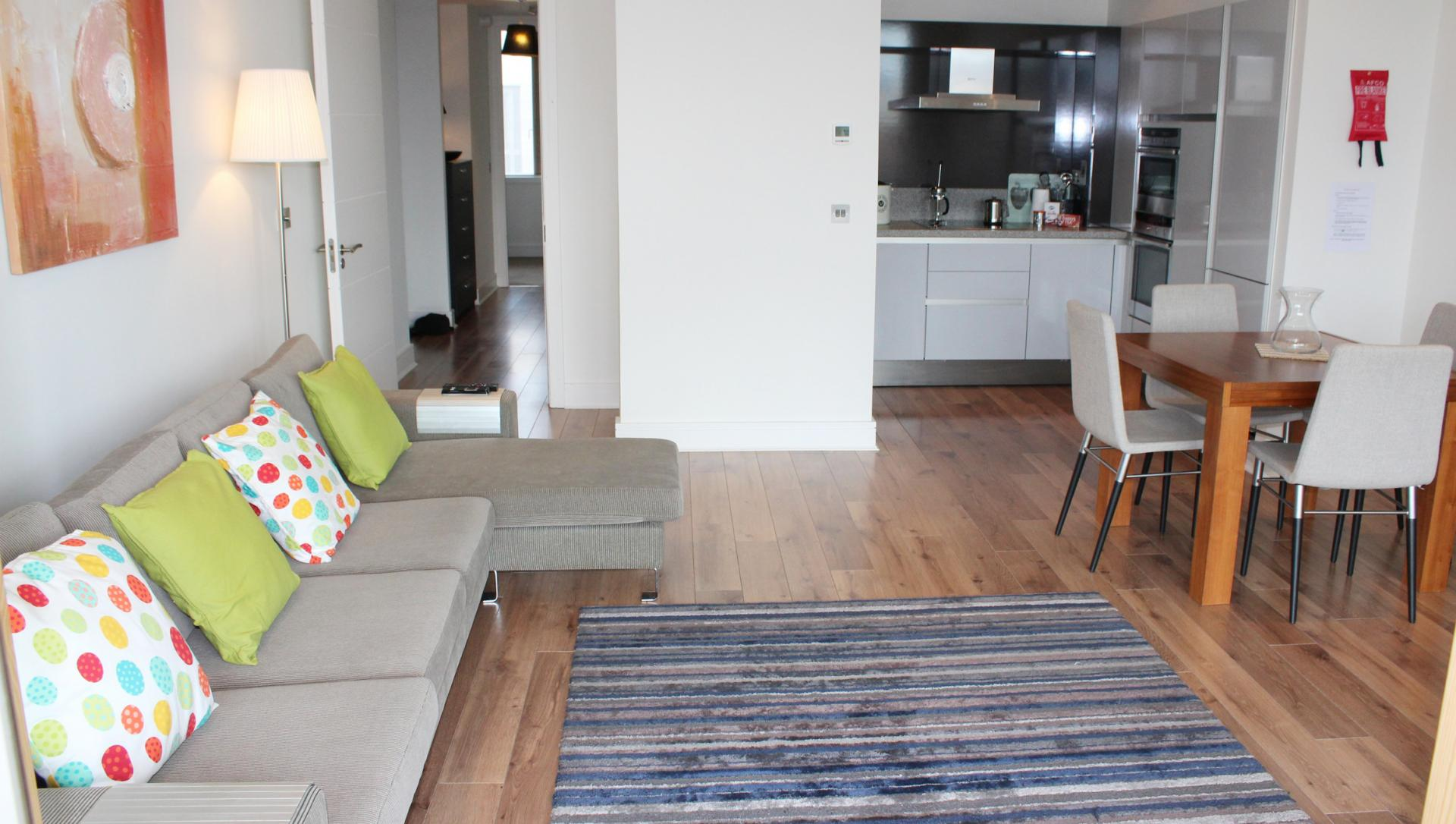 Sofa at The Waterfront Apartment