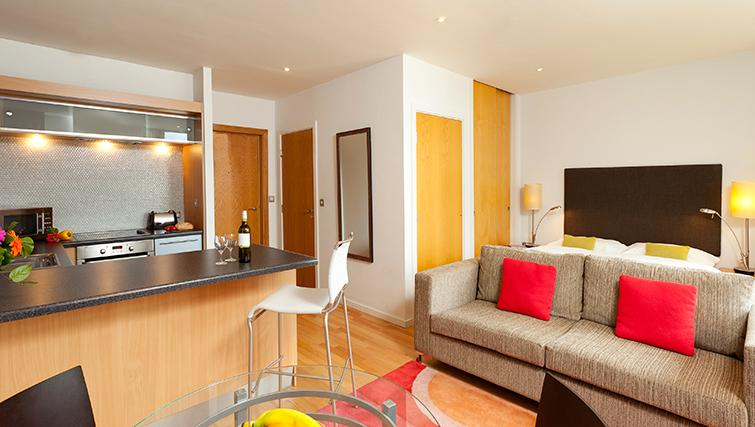Stylish living area in SACO Birmingham - Brindley Place