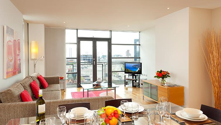 Living space in SACO Birmingham - Brindley Place