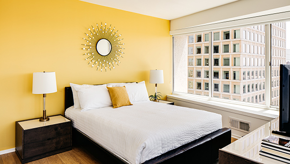 Bedroom at The Paramount Serviced Apartments