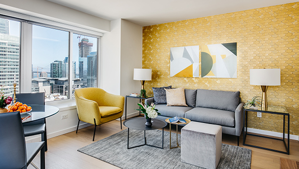 Living area at The Paramount Serviced Apartments