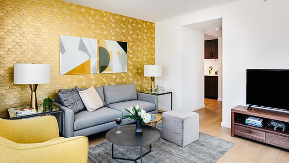 Sofa at The Paramount Serviced Apartments